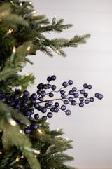 "29"" Navy Crabapple Christmas Spray"