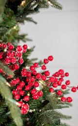"29"" Red Crabapple Christmas Tree Spray"