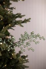 "29"" Metallic Green Crabapple Christmas Sprays (Weather Resistant)"