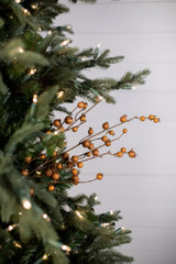 "30"" Butternut Pomegranate Christmas Tree Sprays WR"