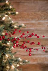 "30"" Mini Red Pomegranate Christmas Tree Sprays"