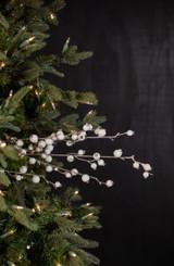 "30"" Mini White Pomegranate Christmas Tree Sprays"