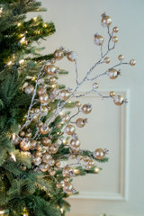 """38"""" Gold Gilded Frosted Crabapple Christmas Tree Sprays"""