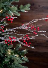"40"" Iced Sparkle Berry Christmas Tree Sprays"