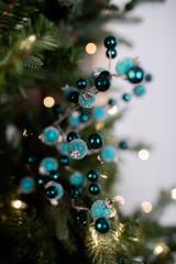 "18"" Pomegranate Christmas Tree Sprays Teal"