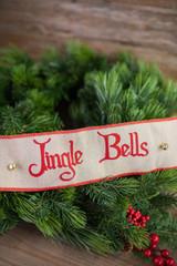 "4"" X 5 Yard Jingle Bell Cotton Jute with Bell Ribbon"