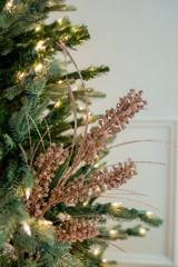 "27"" Glitter Mini Berry Grass Christmas Tree Sprays - Champagne"