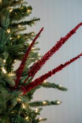 "34"" Triple Glitter Sequin Christmas Tree Spray - Red"
