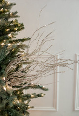 "47"" Glitter Sequin Wispy Willow Christmas Tree Spray"