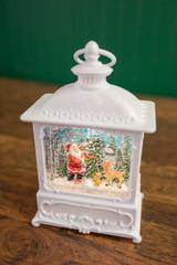 """10"""" LED B/O Santa Scene Water Globe  w/ Timer"""