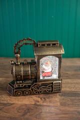 "10"" Santa Train Water Globe"
