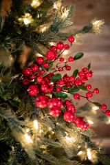 """14"""" Mixed WP Berry Privet Leaf Pick Christmas Tree Flowers"""