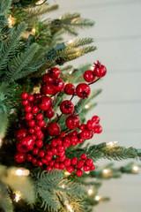 "15"" Mixed Berry Crabapple Pick Christmas Tree Sprays"