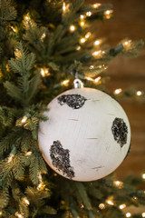 20 Cm Birch Ball Christmas Tree Ornaments