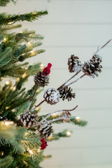 """29"""" Frosted Cone Cardinal Christmas Tree Spray"""