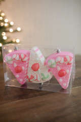 "4"" Cake Slice Christmas Ornaments- Set of 3"