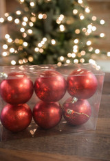 8cm Matte Mercury Ball Christmas Tree Ornaments