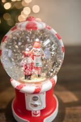 """8"""" LED Nutcracker Gumball Water Globe"""