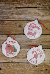 "8.6"" Vintage Holiday Design Christmas Ornaments"
