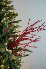 "47"" Glitter Sequin Wispy Willow Christmas Tree Spray - Red"