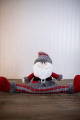 Plush Red/Grey Plaid Santa Draft Dodger
