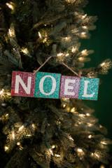 "3"" x 10.5"" Noel Christmas Ornament"
