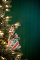 """6"""" x 5"""" Burlap Snowbell Ornament"""