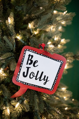 """7.75"""" Be Jolly Christmas Ornament"""