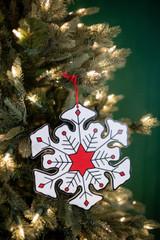 "8"" Jolly Snowflake Christmas Tree Ornaments"