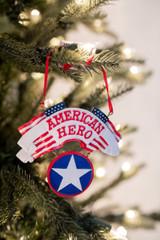 American Hero Christmas Tree Ornaments