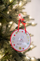 Baby's First Christmas Ceramic Christmas Tree Ornaments