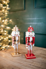 """12.25"""" Wooden Nutcracker with Snowflake"""