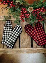 New York Buffalo Check Fashion Gloves