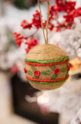 10 Cm Natural Jute Ball Christmas Ornaments