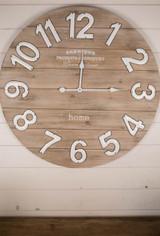 "31.5"" Wood ""Home"" Wall Clock"