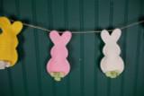 "5"" Glitter Felt Bunny Silo Easter Garland"