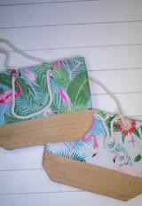 """21"""" Cotton & Polyester Beach Bag"""