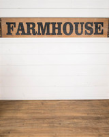 """47"""" Wooden """"Farmhouse"""" Wall Sign"""