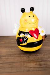 """10.8"""" Dolomite Bee Cookie Jar"""