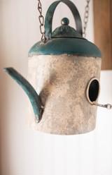 "15.3"" Hanging Teapot Birdhouse"
