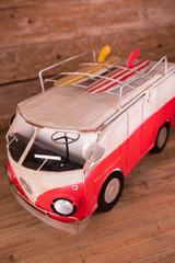 "22"" Solar Lighted Bus Ice Chest"