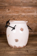 """10"""" Simplicity Ceramic Pot with Butterfly Detail"""