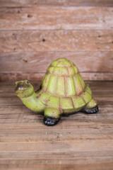"12.25"" Terra Cotta Turtle Figurine"