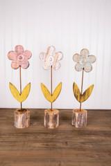 "16.5"" Wooden Flower Decor"