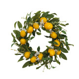 24-Inch Diameter Lemon Wreath with Berry Accents
