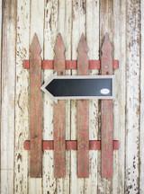 "21""H x 32""W Wood Chalkboard Arrow Fence"