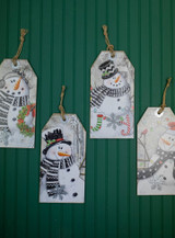 """15.75"""" Wood Holiday Hanging Snowman Sign"""