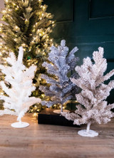 """19"""" H Frosted Pine Glitter Tree"""