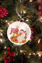 """6.9"""" Lighted Snowman Ornament (Battery Operated)"""