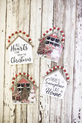 """7.5""""H Snowman Wall Hanging with Beaded Hanger"""